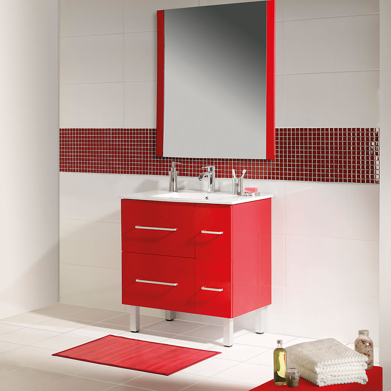 faience salle de bain rouge. Black Bedroom Furniture Sets. Home Design Ideas