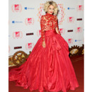 Rita Ora en robe de soirée flamboyante Marchesa au MTV Europe Music Awards 2012