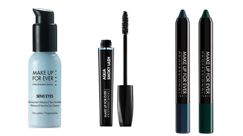 The Voice collection Aqua de Make Up For Ever Aqua Shadow Aqua smoky lash et démaquillant sens eyes
