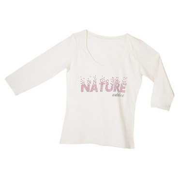 "T-shirt imprimé ""Nature addict"" 100 % coton bio - Casino 12 €"