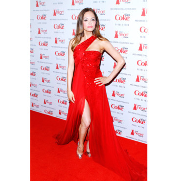 Rose Mc Gowan au gala Red Dress Collection