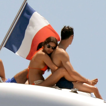 Cristiano Ronaldo et Irina Shayk sur un yacht