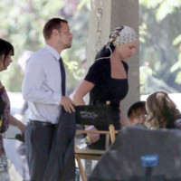 Photo : Katherine Heigl et Justin Chambers sur le tournage de Grey&#039;s Anatomy saison 6