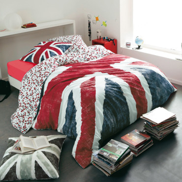 d co british le drapeau union jack s 39 affiche du sol au. Black Bedroom Furniture Sets. Home Design Ideas