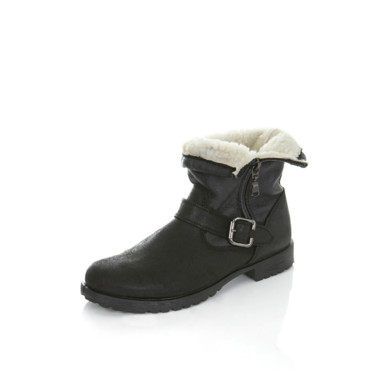 Les boots motardes Miss Selfridge 46 euros