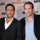 Jean Dujardin et Gilles Lellouche avant-premire Les Infidles 14 fvrier 2012