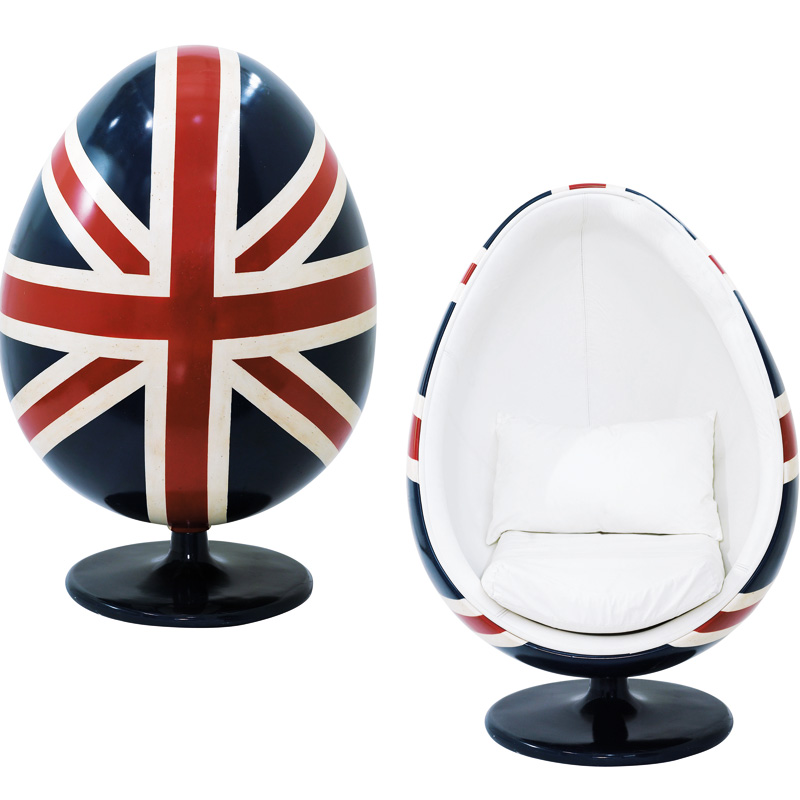 d co british le drapeau union jack s 39 affiche du sol au plafond le fauteuil coquille union. Black Bedroom Furniture Sets. Home Design Ideas
