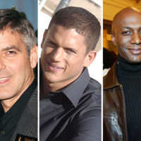 George Clooney, Wentworth Miller et Harry Roselmack