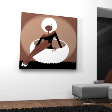 Les tableaux Qora & Qhai : Curlie Ball Brown