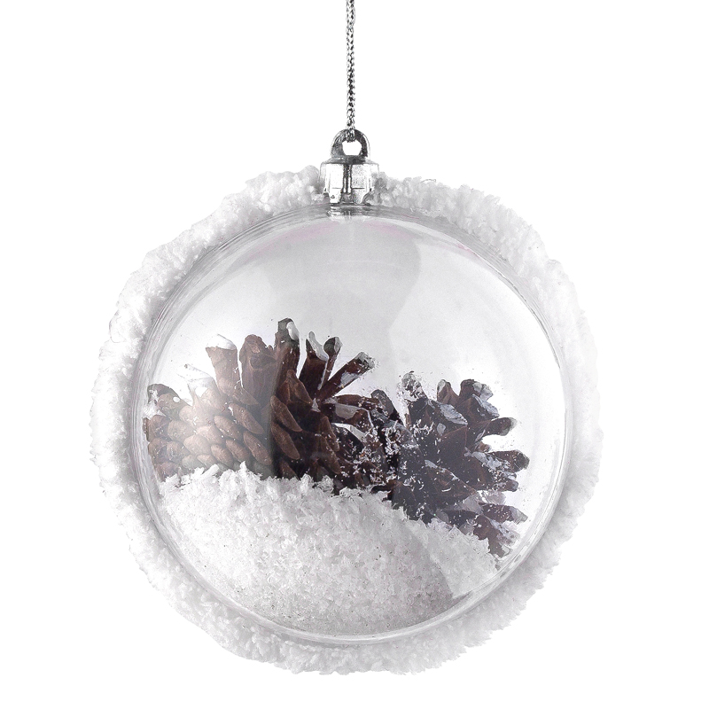D co de no l un sapin de no l folk au naturel boule de no l transparente - Pinterest boule de noel ...