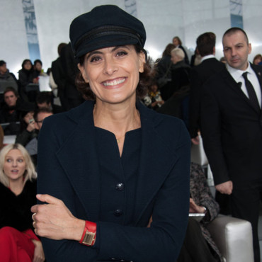Inès de la Fressange au défilé de la collection Haute Couture Printemps-Eté 2014 de Chanel au Grand Palais à Paris, France, le 21 Janvier.