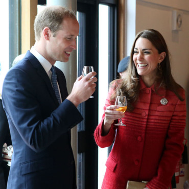 Le prince William et Kate Middleton à la distillerie de Glenturret le 29 mai 2014