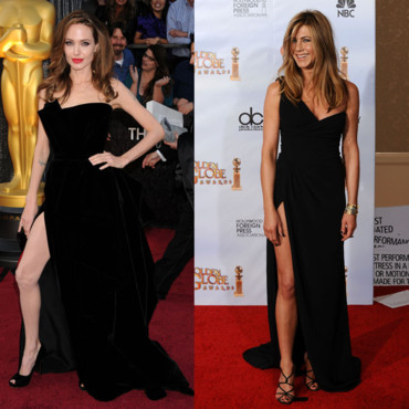 Jambe sexy Angelina Jolie vs Jennifer Aniston