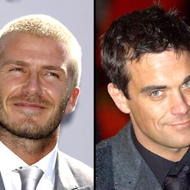 People : David Beckham et Robbie Williams