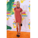 Kids Choice Awards Pixie Lott en mini robe imprimée